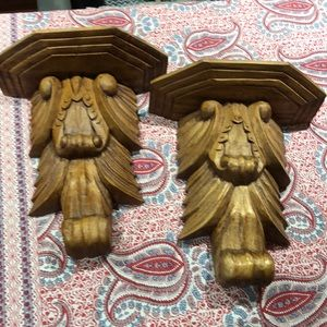 Hand Carved Wall Sconces